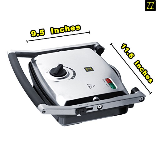 Buy Bargain ZZ SM302 Gourmet Health Grill Panini Press & Sandwich Maker with Large Cooking Surfa...