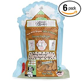 Becca's Barkery Dog Biscuits, 10-Ounce Bags (Pack of 6)