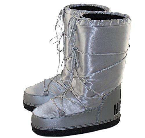 Love Moschino - Stivali da Neve Donna , argento (argento), 38/40 EU