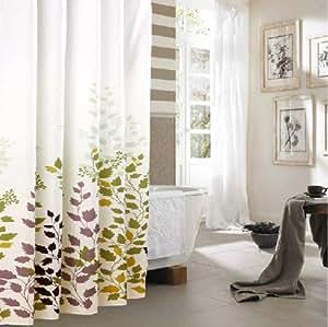duschvorhang gr n weiss wei 220x200 textil waschbar 100. Black Bedroom Furniture Sets. Home Design Ideas