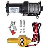SKB Family 12 V Electric Winch 2000 lb Wire Remote Control New Portable Cable Trailer
