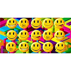 Amazon.com: Emoji's All Over Smiley Faces Velour Beach Towel 30in x