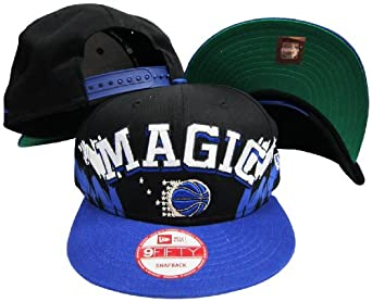 Orlando Magic Black Blue Two Tone Plastic Snapback Adjustable Plastic Snap Back Hat... by New Era