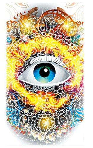 Festie Fever Flaming Eye Rave Bandana Multifunctional Seamless Mask