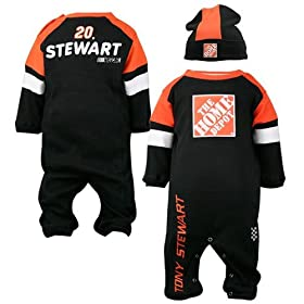 nascar baby clothes Tony Stewart Newborn Coverall and Hat