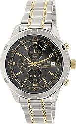 Seiko Chronograph Grey Dial Two-tone Mens Watch SKS425