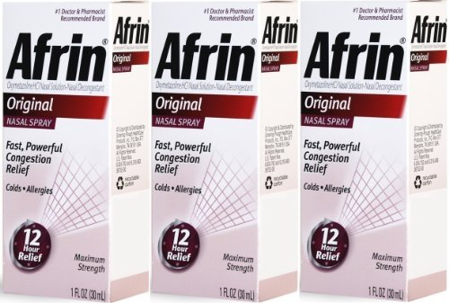 Afrin Original Nasal Spray & Decongestant, Fast/