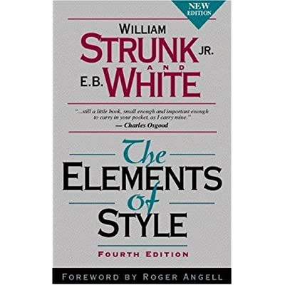 The Elements of Style cover from amazon.com