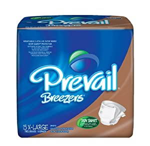 First Quality Prevail Breezers Adult Briefs-X-Large, Waist 59 inch to 64 inch, Beige,60/Case from FIRST QUALITY PRODUCTS