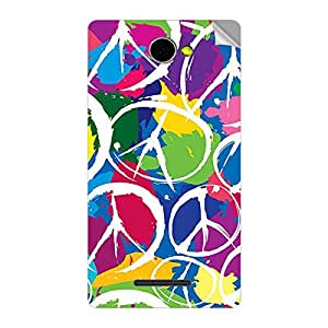 Garmor Designer Mobile Skin Sticker For Panasonic P55 - Mobile Sticker