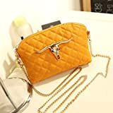 KERAL Retro Shell Bag Fashion Chain Shoulder Bag Diagonal Female Bag Color Yellow