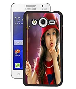 Fuson 2D Printed Cute Baby Designer Back Case Cover for Samsung Galaxy Core 2 - D734