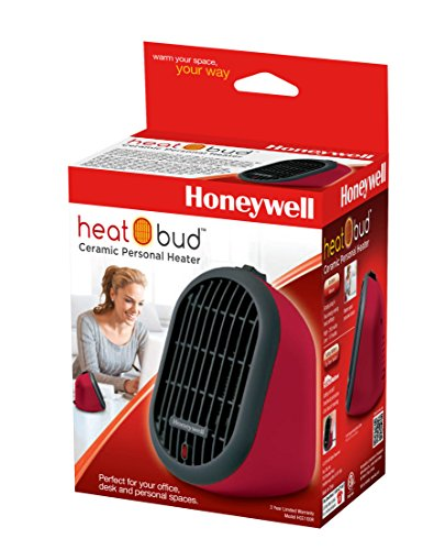 B00NXZ7UMA Honeywell HCE100R Heat Bud Ceramic Heater, Red