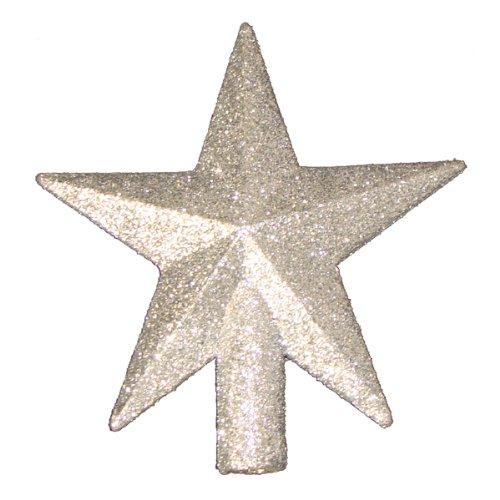 4 petite treasures silver glittered mini star christmas tree topper unlit 093422819961. Black Bedroom Furniture Sets. Home Design Ideas