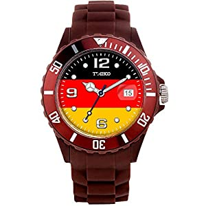TIME100 Memorial National World Cup Classic Silicone Strap Germany Outdoor Sports Digital Watch #W40113M.07A