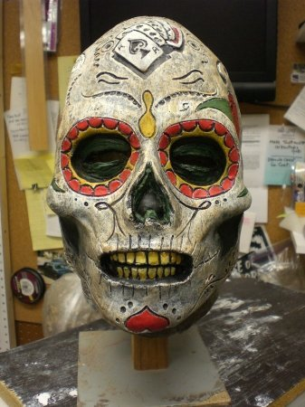 Day Of The Dead Zombie Latex Mask Adult Accessory