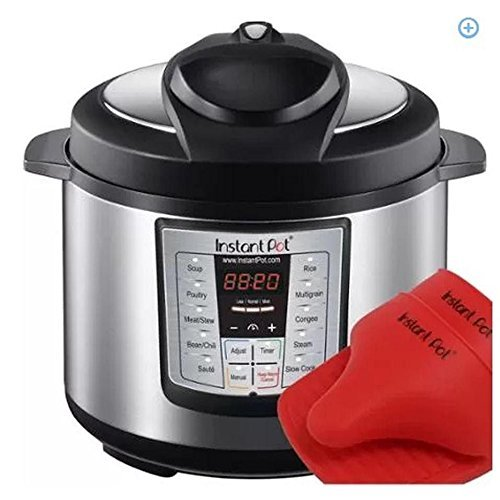 Latest Model Instant Pot Ip-lux60-enw Stainless Steel 6-in-1 Pressure Cooker with Mini Mitts (Instant Pot Lux60 compare prices)