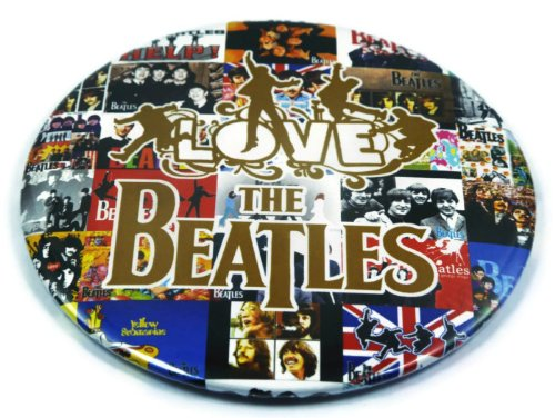 """The Beatles Best (11) Awesome 3-In-1 Features Jumbo 3.75"""" Pin Stand Button Badge"""