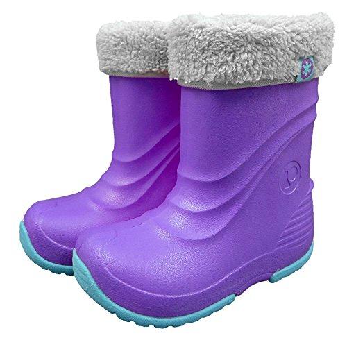 アスナロ(サンダル・ブーツ) POOKIES(プーキーズ) EVAブーツ 子供 スノーブーツ 長靴15-16 紫