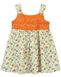 Beebay Infant-girl 100% Cotton Woven Orange Lace Sundress (D0716116701728_Orange_3-4 Years)