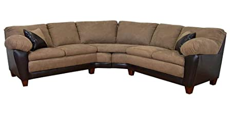 James 2-Pc Sectional Sofa in Bulldozer Mocha Fabric