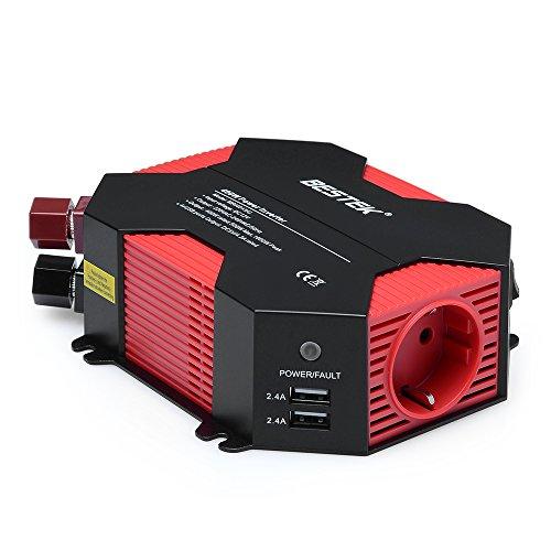 Recomendado!! Inversor de corriente para coche con 4 puertos USB y 2 tomas 12V a 220V de BESTEK® 400W