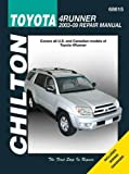img - for Toyota 4Runner, 2003 - 2009 (Chilton's Total Car Care Repair Manual) book / textbook / text book