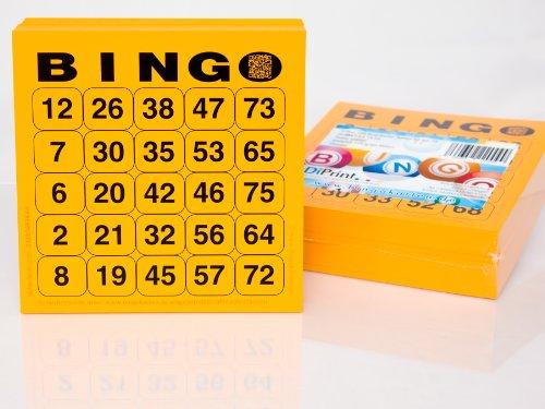 200Grand Imprimé cartes de bingo pour personnes âgées Système 25de 75(Orange)