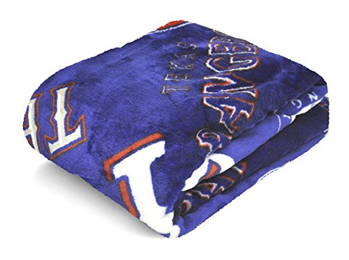 MLB Texas Rangers Royal Plush Throw, 50 by 60-Inch (Texas Rangers Baseball Bat compare prices)