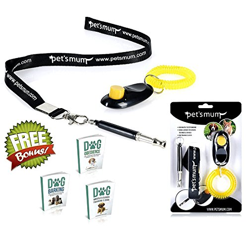 ONE DAY SALE - Dog Whistle to Stop Barking & Loud Pet Training Clicker Kit - Safe, Fast & Silent Dog Bark Control tools -FREE Lanyard & 3 Dog Training E-books - Ultrasonic Adjustable Pitch | Pet's Mum (Training Dog Whistle compare prices)