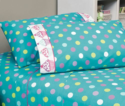 Cupcake Collection 3-Piece Soft Sheet Set Ind/Twin front-854124