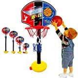 Child Baby Classic Adjustable Height Indoor / Outdoor/household Portable Shooting Basketball Foam Frame Hoop Sports Toys Christmas Birthday Gift
