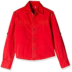 UFO Boys' Shirt (AW16-WB-BKT-235_Red_2 - 3 years)