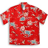 LaLaKai(ララカイ) アロハシャツ【スズメ】HL-063/RED