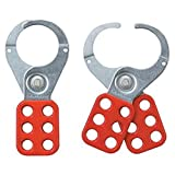 RED SAFETY HASP 4.06CM DIA. JAWS Security Locks - RED SAFETY HASP 4.06CM DIA. JAWS