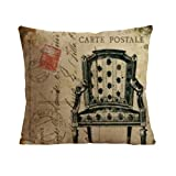 Home Style Cotton Linen Decorative Couple Throw Pillow Cover Cushion Case Couple Pillow Case Life Tree Red for Auto Seat