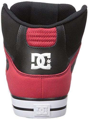 DC Men's Spartan High Wc Skateboarding Shoe, Red/Grey/Black, 13 M US