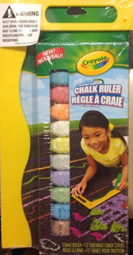 Crayola Washable Sidewalks Chalk Ruler Set - 1