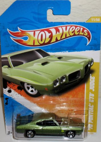 Hot Wheels 2011 New Models Green 1970 Pontiac GTO Judge