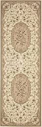 Traditional Savonnerie Cream High Quality Floral Design 2\'7\