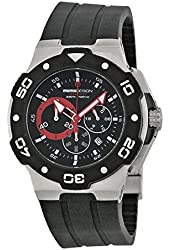 Momo Design Tempest Chronograph Black Dial Black Rubber Mens Watch MD1004SS-11