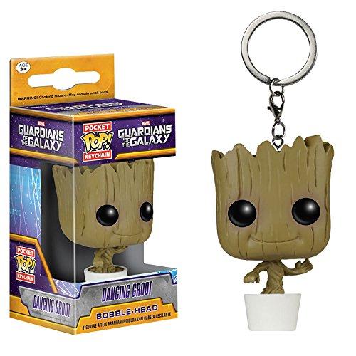 Guardians of the Galaxy - portachiavi Baby Groot - stile Funko Pop - confezione con finestrella trasparente - 4 cm