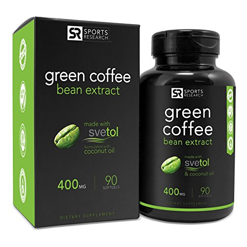 SVETOL Green Coffee Bean Extract, 90 Liquid Softgels with 400mg of Clinically-Proven Svetol Per Cap (Green Coffee Bean Extract Svetol compare prices)