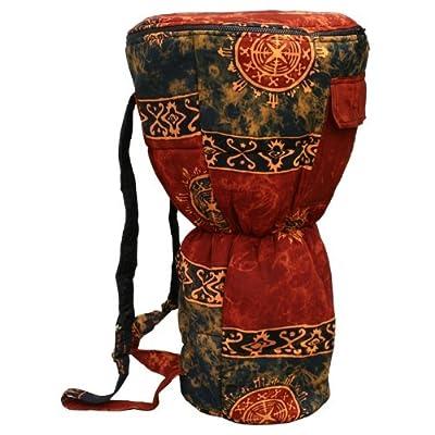 Djembe Drum Backpack, Chocolate Celestial Design