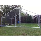 Chicken Coop Huge Steel 4 x 4 Metre fox proof Robust walk in Hen House With half Roof Coverby TSLA