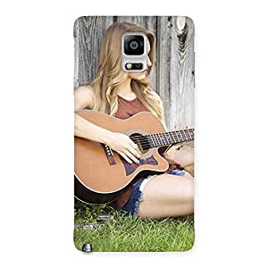 Girl Guitar Back Case Cover for Galaxy Note 4