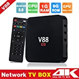 Hongfei (US Plug)Android TV Box, Android 6.0 RK3229 1GB+8GB Quad Core WiFi HD 4K AV HDMI TV Box for V88 (Tamaño: US)