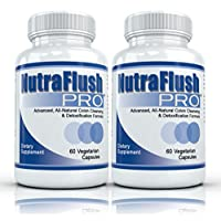 Nutraflush PRO (2 Bottles) - Complete Colon Cleanser and Full Body Detox Cleanse Supplement - 60 Capsules