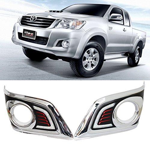 AupTech High Power 5-LED Daytime Running Lights LED DRL Daylight Fog Lamps Kit for Toyota Vigo Hilux 2012-2014 (Daytime Running Lights For Hilux compare prices)