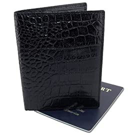 DataSafe Italian Leather Passport and Travel Wallet with RFID Shielding Security